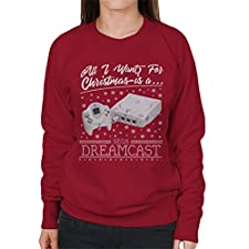 Coto7 All I Want For Christmas Is A Dreamcast Women's Sweatshirt