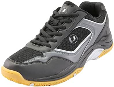 Ultrasport Sport Indoor Schuh,10068, Unisex - Erwachsene Sportschuhe - Indoor, Schwarz (Black/silver 200), EU 36