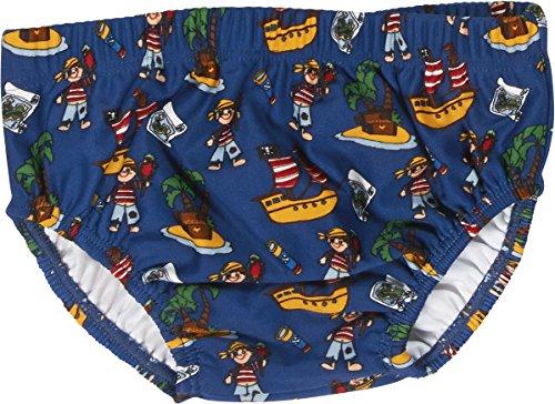 Playshoes Baby - Jungen Schwimmwindel Badewindel, Badehose, Pirateninsel, UV-Schutz nach Standard 801 und Oeko-Tex Standard 100, Gr. 74 (Herstellergröße: 74/80), Mehrfarbig (original 900)