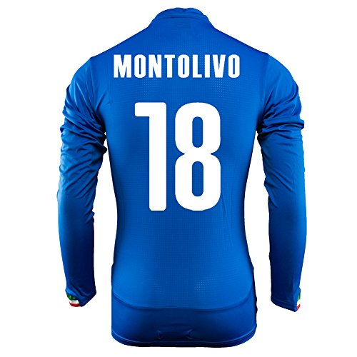 Puma Montolivo # 18 Italien Home Jersey Wordl Cup 2014 Langarm (XL) (Jersey Home Italien)