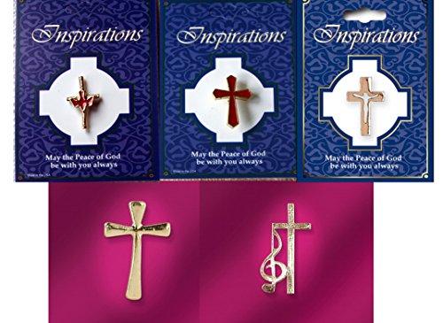 Badges. Gold Farbe Kreuz, Set von 5verschiedenen Kreuzen. ()