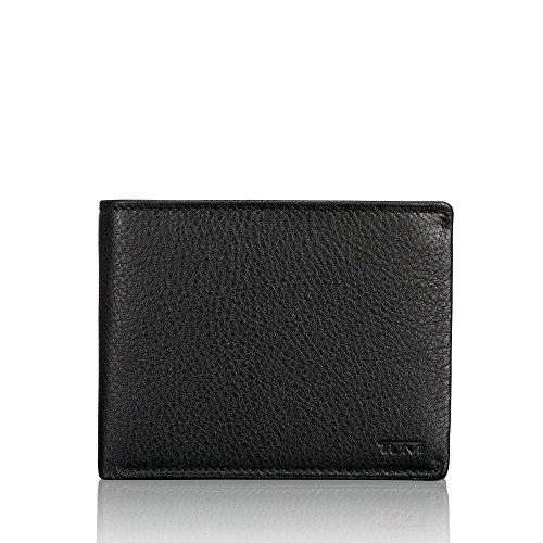 Tumi Nassau Münzbörse 0186137D, 12 cm, Black Smooth -
