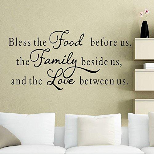 LQRRHY Moderne Charaktere Nahrung Familien - Liebe - Wand - Aufkleber Aufkleber - Hauptdekor Abziehbilder Kunst DIY PVC Große 57 * 117cm