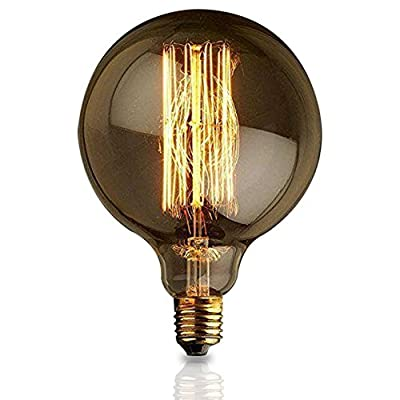 E27 G125 Straight Wire Large Bulb Bulb Edison Retro Decorative Light Bulbs
