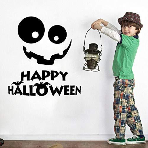 56,3 CM * 60,9 CM Halloween Aufkleber Lächeln Aufkleber Halloween Urlaub PVC Wohnkultur Wandaufkleber