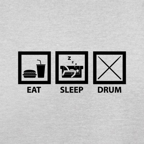 Eat Sleep Drum (Schlagzeug) - Herren T-Shirt - 13 Farben Hellgrau
