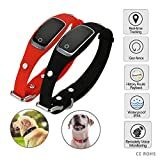 VCXZ Mini Animaux Silicon Waterproof Collar GPS GSM GPRS Tracker Temps réel GPS Locator + WiFi + LBS pour Location pistage Cat Geofence,Black...