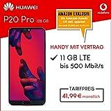 Huawei P20 Pro (schwarz) 128GB Speicher Handy mit Vertrag (Vodafone Smart XL) 11GB Datenvolumen 24 Monate Mindestlaufzeit [Exklusiv bei Amazon]