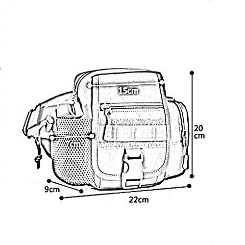 ZHANGRONG- Versione sportiva verticale sportiva della borsa multifunzionale del messaggero maschio e femminile Tempo libero in sella a una borsa da corsa Tazze d'acqua impermeabili tasche (Opzionale a 4