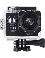 Mobimint Xtrem 1080 Action Camera, Dual 2 Inch LCD Screen 16 MP Image Sensor 170 Wide-Angle Lens Sports Camera 100 FT Waterproof Case Included in Accessories Kit (12 mp)