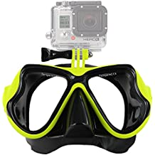 IXROAD Vista amplia Mutli-función de buceo con escafandra y máscara de buceo con montaje para la acción de la cámara deportiva, p. Gopro Hero 1/2/3/3 + / 4 SJ4000 SJ5000 SJCAM, etc.