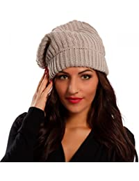 Damen Mütze Strickmütze Beanie Oversize Mütze