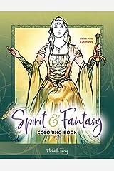 Spirit & Fantasy Coloring Book: Black & White Edition Taschenbuch