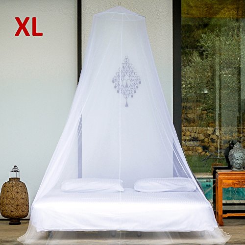 EVEN Naturals MOSQUITO NET bed for Twin Queen Super King Size, EXTRA LARGE Bed Canopy Curtains, White Mosquito Netting with 2 Openings, Easy Installation & Carry Bag