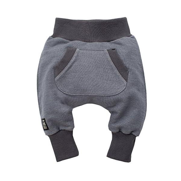 Pinokio - Happy Day - Pantalones de bebé 100% algodón Negro Pantalones de chándal, Pantalones de harén Pantalones… 1