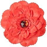 Gardenia Flower Hair Clip - Red OSFM