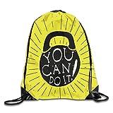 vbndgfhjd Bundle Backpack Fitness You Can Do It Travel Large Capacity Shoulder Drawstring Bags