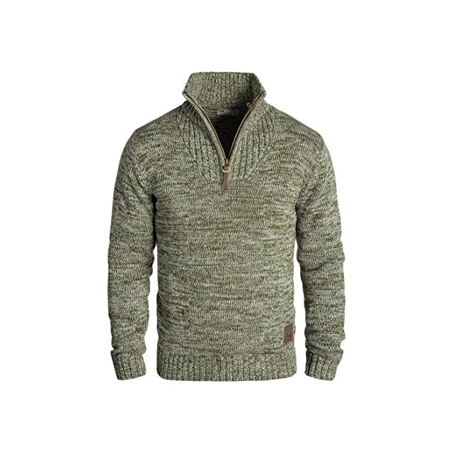 189e471acd28f Solid Philostrate Pull en Grosse Maille À Col Camionneur Pull-Over pour  Homme 100 !