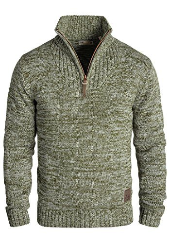 Solid Philostrate Men's Knitted Pullover, Size:XL;Colour:IVY Green (3797)