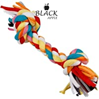 Black Apple Cotton Durable Dog Chew Rope 2 Knot Toy for Small to Medium Dogs (Color May Vary)