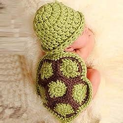 Bella Carina Amison Bebé Recién Nacido Tortuga Punto O Ganchillo Ropa Beanie Sombrero Para Disfraz Tutores Fotos