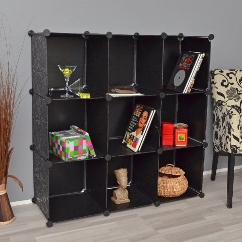 ts-ideen-plug-in-shelf-stacking-rack-shelves-chest-cabinet-closet-cupboard-black