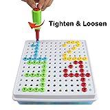 Mosaik Steckspiel Plastik mit Schraube 150 Teilen Sspielzeug für Kinder 3 Jahre von tlhtoys