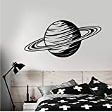 Qqasd Cartoon Planet Saturn Raum Thema Vinyl Wandtattoo Wohnkultur Wohnzimmer Kunstwand Tapete Wandaufkleber 58X28 Cm