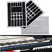 Homewind - Pegatinas de chainstay para Bicicleta, Marco Protector para Bicicleta, MTB, BMX, Cadena de Bicicleta de montaña, Plegable, Cinta Adhesiva de Fibra de Carbono