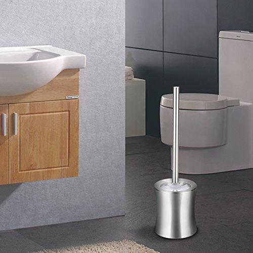 OYSHOPP Portascopino WC Bagno Acciaio Inossidabile Alta qualità spazzolino WC Acciaio inox(02)
