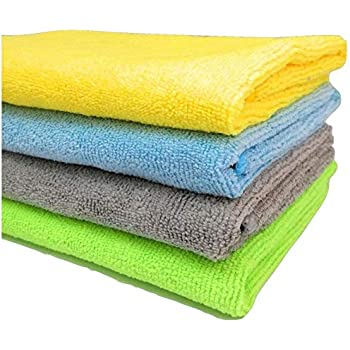 Sobby Microfibre Cleaning Cloth (40 x 40cm, 340 gsm, Assorted colour)-Set of 4