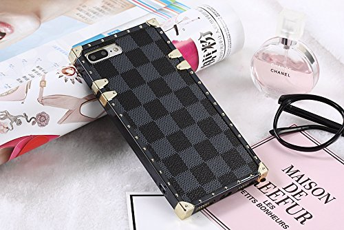 Heil iphone6s Classic (Fast bieten Uns Garantie von FBA) Neuen Eleganten Luxus PU Leder Wallet Stil Flip Cover Case für Apple iPhone 6 iphone6s iPhone 6 6S, Trunk Grey Checker (Gucci Wallet Stil)