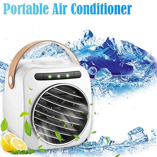 Mobile Klimageräte, Air Cooler, KUKICAT 3 in 1 Persönliche Klimaanlage, Luftbefeuchter, Luftreiniger und Aroma Diffuser, USB Mini Luftkühler mit Wasserkühlung, 3 Leistungsstufen