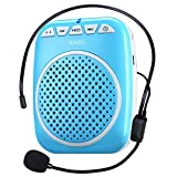 Ultraleicht Stimmverstärker Tragbarer Sprachverstärker, SHIDU S308 Ultra-Clear Rechargeable Amplifiers, Powerful Compact and Comfortable Wired Headset Microphone for Teachers, Kindergarener, Tour Guides, Coaches and More (Blau)