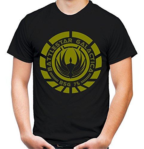 Battlestar Galactica Männer und Herren T-Shirt | Spruch Vintage Cylon Geschenk | M1 (XL, Schwarz) (Battlestar Galactica Kostüm)