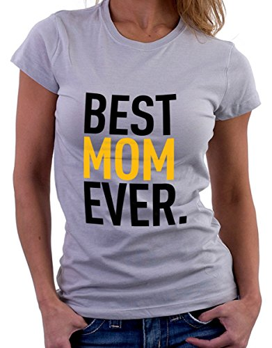t-shirt festa della mamma Best mom ever by tshirteria grigio