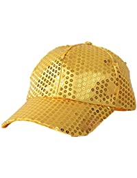 ae88410a298 Greenlans Unisex Glitter Sequins Baseball Caps Snapback Hats Party Outdoor  Adjustable Hat For Women Men