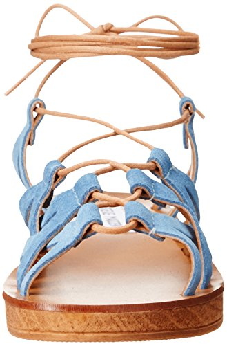 Steve Madden Womens Seaashor Wedge Sandal Denim Suede