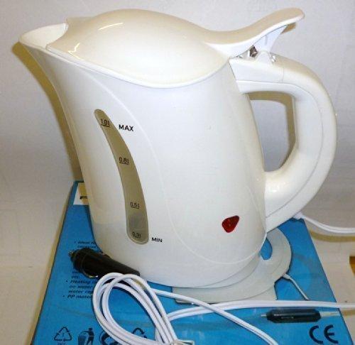 Preisvergleich Produktbild REISEN UND WASSERKOCHER TK24 mit UK 24 vdc Stecker Reise-wasserkocher 1 Liter Weiß