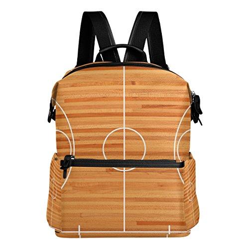 COOSUN Basketball Court Grundriss Schule Rucksack-Spielraum-Rucksack Multi