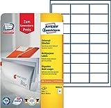 Avery Zweckform 3658-10 Adress-Etiketten (A4, Papier matt,240 Stück, 64,6 x 33,8 mm) 10 Blatt weiß