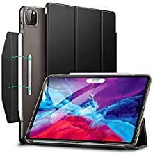 ESR Case for iPad Pro 12.9'' 2020/2018, Yippee Trifold Smart Case with Auto Sleep/Wake, Lightweight Stand Case with Clasp, Hard Back Cover,Black