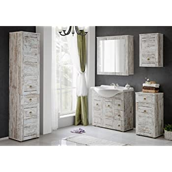badm bel set provence 85 shabby chic badezimmer m bel badset mit waschbecken k che. Black Bedroom Furniture Sets. Home Design Ideas