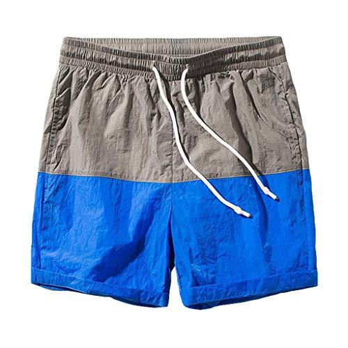 BURFLY Herren-Shorts mit geraden Shorts für Männer Slim Badehosen für Kurze Hosen, die schnell trocknen - Crew-long Sleeve Work Shirt