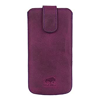 "Solo Pelle Iphone 7 Plus / 6 Plus / Iphone 6S Plus (5.5 Zoll) Ledertasche "" Multy "" Antik Lila"