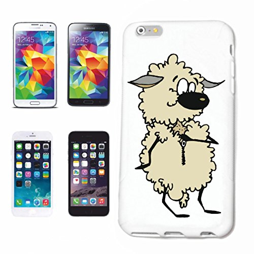 "Handyhülle iPhone 7S ""Schafe die schwirren Cartoon Spass Fun Kult Film Top Cartoon Spass Fun Kult Film T"" Hardcase Schutzhülle Handycover Smart Cover für Apple iPhone … in Weiß … Schlank und schön, das ist unser HardCase. Das Case wird mit einem Klick auf deinem Smartphone befestigt"