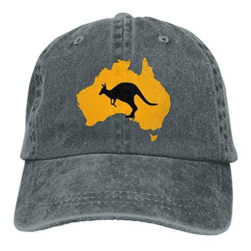 hanbaozhou Gorras béisbol Kangar Australia Map Denim Hat Adjustable Men s  Washed Baseball Caps a467e4086e2
