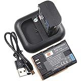 DSTE 2-pack Batteries + Dual USB Chargeur pour Canon LP-E6 LP-E6N EOS 5D 7D Mark III, 5D 7D Mark II 5DS 6D 70D 60D 60Da 80D