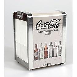 Coca Cola Serviettenspender Serviettenhalter Vintage Metall 14 x 9,4 x 10 cm creme - weiß