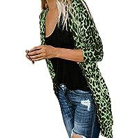 LILICAT® Abrigo de Moda de Manga Larga con Estampado de Leopardo para Mujer Bllouse Camiseta Tank Tops (XXXXL/XXXXXL)